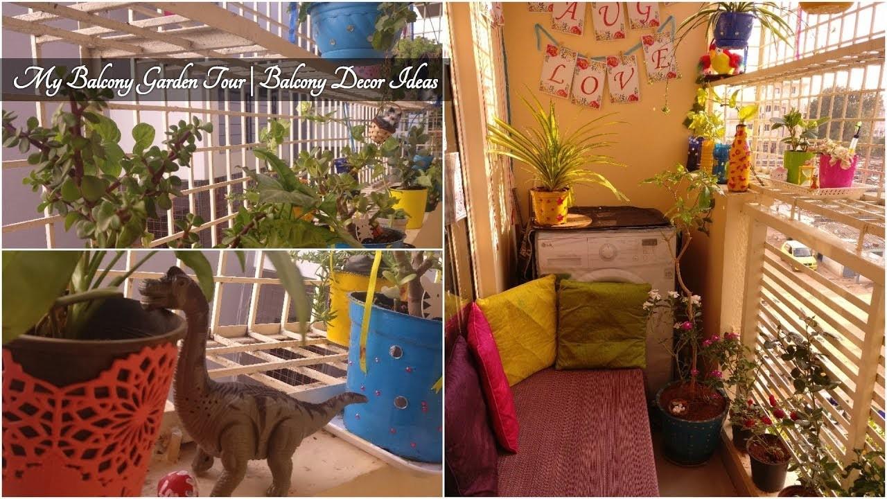My Balcony Garden Tour   Balcony Decor Ideas   Balcony Organizing Ideas   Anshu's Passion