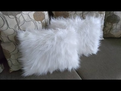 No sew Faux Fur Pillows