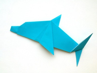 Origami for Kids - Origami Dolphin.Tutorial.