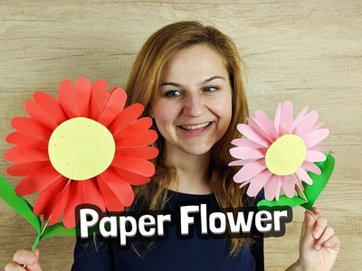 Paper flower craft for Mother's Day