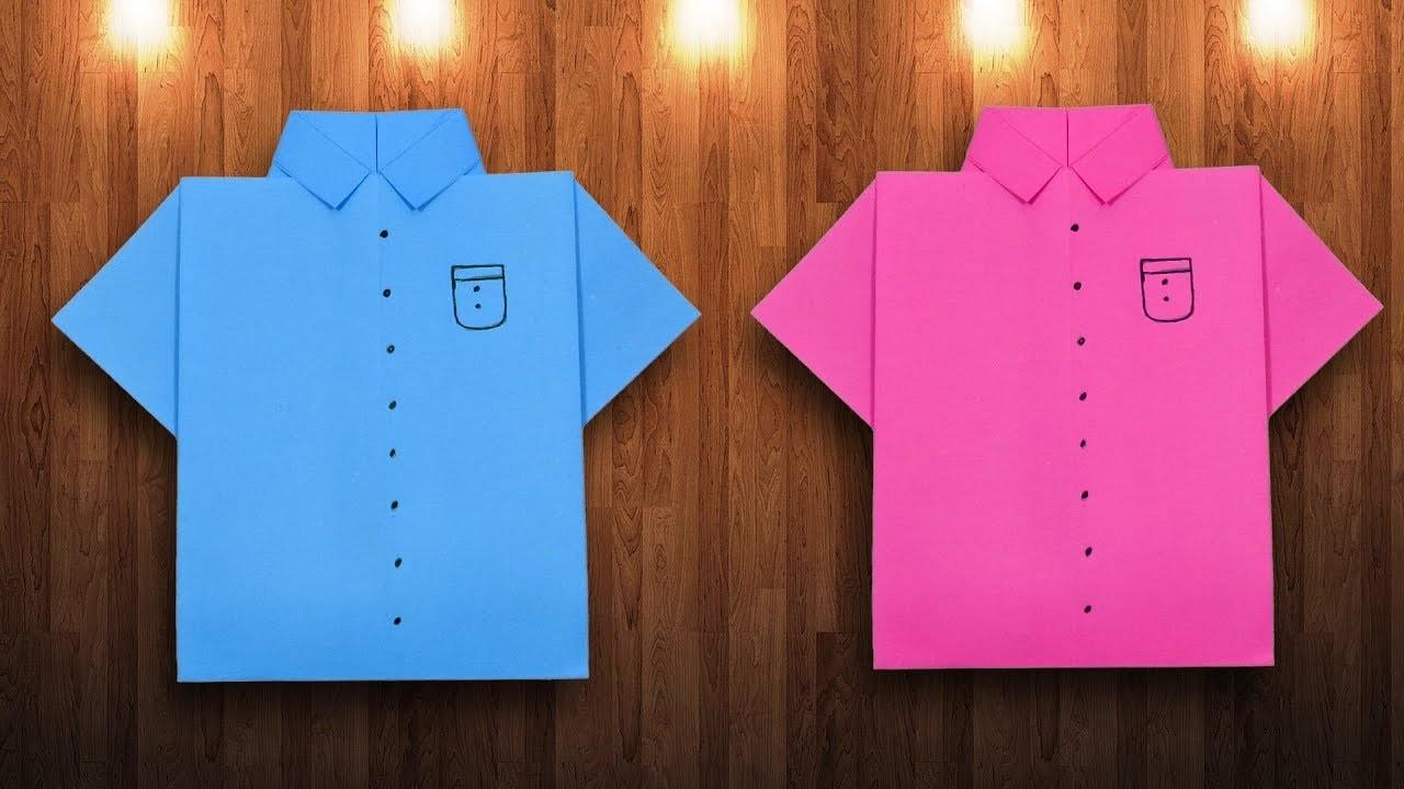 Missionary Shirt & Tie tutorial // origami shirt // notecard shirt ... | 720x1280