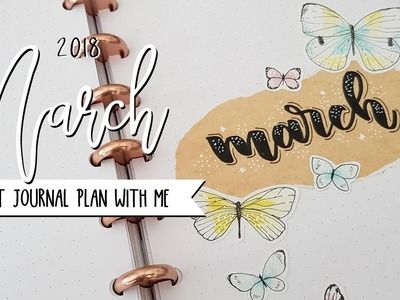 Plan with me | March 2018 w. MyLifeinaBullet, JennyJournals and ChristineMyLyhn