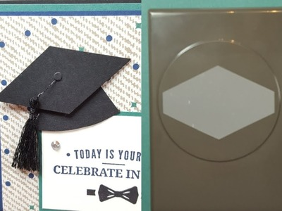 Stampin' Up! Tailored Tag Graduation Cap from Project 3 Truly Tailored Card Class