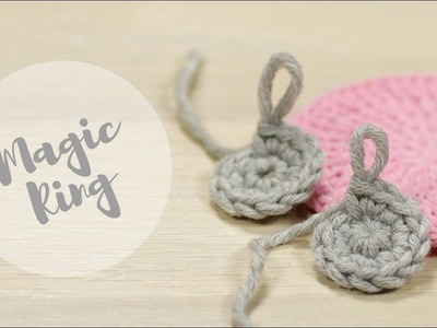 Start crocheting with a MAGIC RING (left-handed) | Amigurumi Essentials