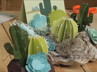 Succulent 2D & 3D by Lynda Kanase for Sizzix