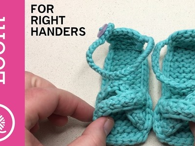 Super CUTE Loom Knit Baby Sandals - Right Handed (CC)
