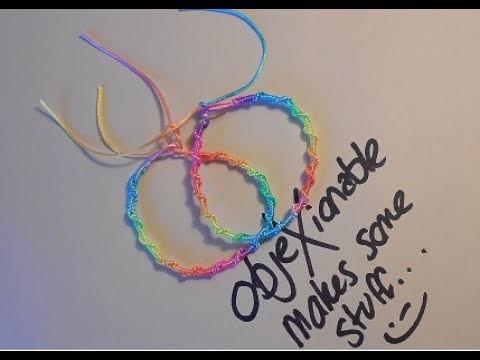 Super Easy.Simple Single Spiral Macrame Friendship Bracelet