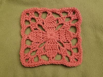 The Dogwood Flower Square Crochet Tutorial!