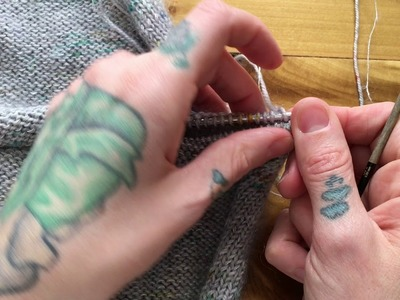 Three Needle Bind Off