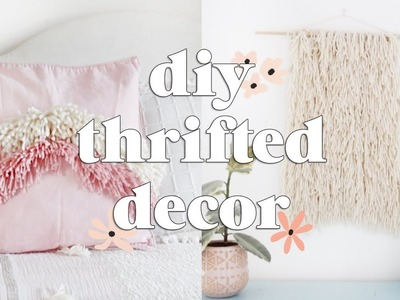 Thrifted Home Decor DIYs | Charity Shop Challenge