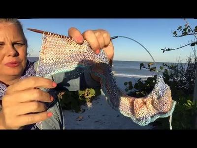 Yarn on the Beach 080 Sunrise Video Podcast with Kristin Omdahl Yarn Knitting Crochet