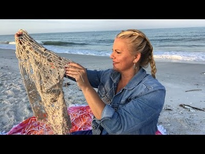 Yarn on the Beach 096 life sunrise video podcast with Kristin Omdahl