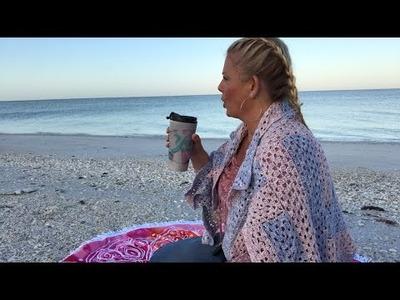 Yarn on the Beach 098 live sunrise video podcast vlog with Kristin Omdahl