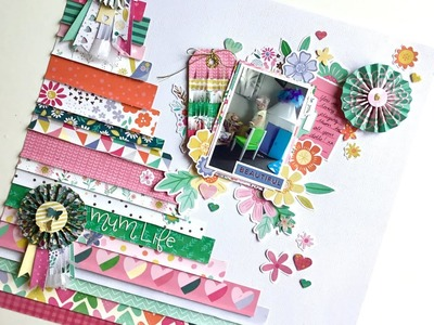 12x12 Scrapbook Process - DIY Embellishments (Extend the life of your collections)