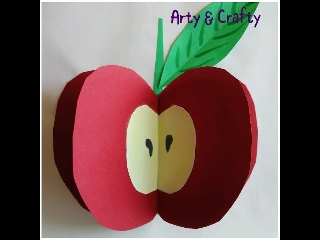 3d Apple 3d Paper Craft Craft For Kids Easy Craft For Kids 3d Apple