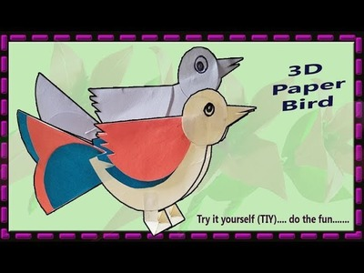 3D Paper sparrow by Art House | Very easy paper sparrow DIY. TIY