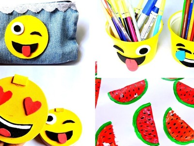5 DIY School Supplies || Emoji Craft || Easy 5 - Minute Craft || Craft Ideas For School Student ||