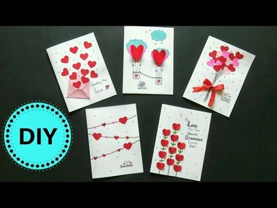 5 easy greeting cards tutorial | DIY mother's day gift ideas 2018 | easy valentine greeting cards