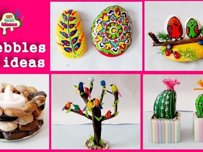 5 pebbles diy ideas # pebbles # DIY art And Crafts || arush diy craft ideas