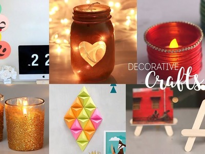 6 Home Decorative Craft Ideas | DIY Room Decor | Handcraft