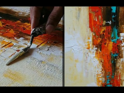 Abstract Painting. How to make abstract painting for Beginners. Demonstration. Tutorial