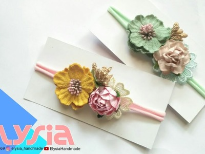 Baby Headband Ideas : Paper Flowers Baby Headband Ideas #1 | DIY by Elysia Handmade