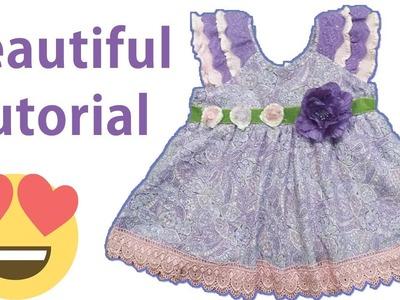 Beautiful baby frock cutting and stitching