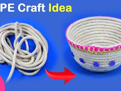 Best Rope Craft Idea | DIY Art & Craft | Rope Bowl for Fruits | Best out of waste ROPE