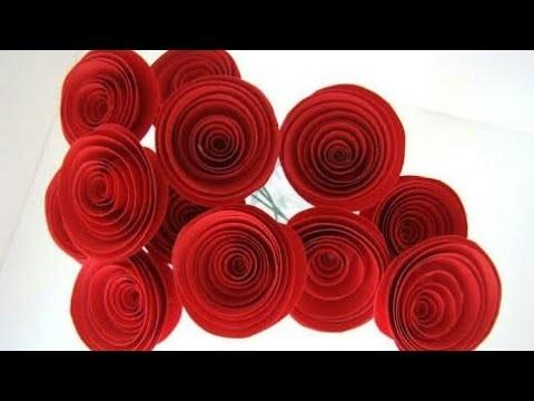 Big paper flower making flowers healthy big paper flower diy making of paper rose just 2 minutes spiral rose roll hindi mightylinksfo