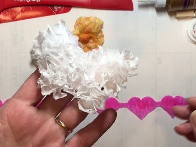 Build Your Stash and Craft, WK 68, Crepe Paper Embellishments and Flowers  :)