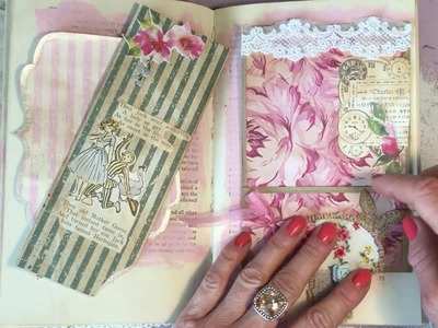 Craft with Me Old Mother Goose - Part 3 - Junk Journal Altered Book - Process Video