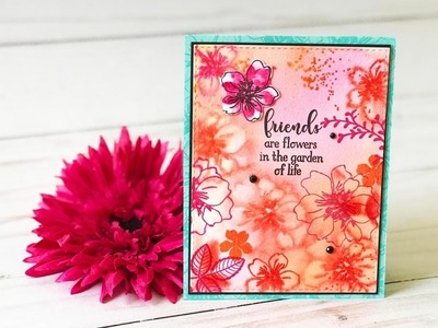 Craft Your Joy Card Tutorial: Watercolor Ghosting Technique with Oxides and Dye Inks