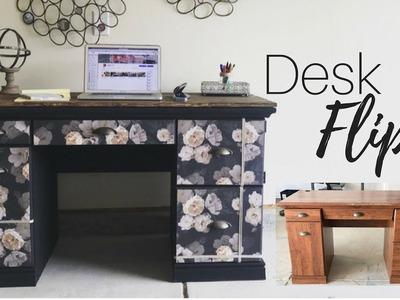 Desk Flip   Rustic Glam Styled   DIY   Ashleigh Lauren Tutorials   Thrifty Furniture Flip