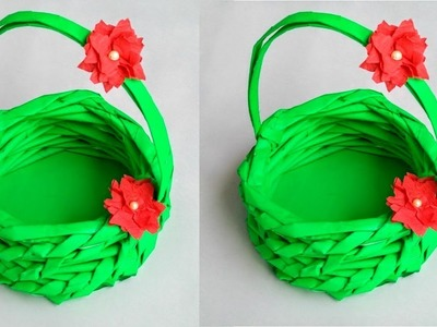 DIY:Best out of waste idea: Newspaper craft:reuse of waste newspaper