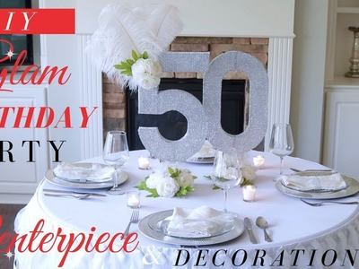 DIY BLING CENTERPIECE IDEAS | GLAM BIRTHDAY PARTY