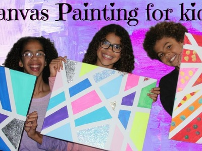 DIY CANVAS PAINTING FOR KIDS  Quick and EASY canvas painting tutorial for children