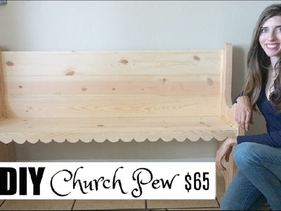DIY CHURCH PEW | HOW TO BUILD A PEW $65 | Momma From Scratch