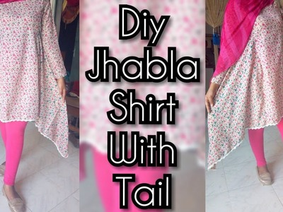 DIY Designer Tunic Top Two Tail Kurti Cutting And Stitching Full Tutorial
