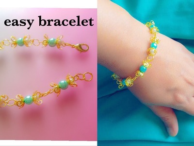 Diy Easy and Simple Bracelet||How To Make Simple Bracelet With Pearls At Home