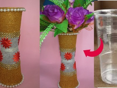 DIY.Flower Pot out of Disposable Plastic Glass|| Flower pot made with disposable plastic glass||