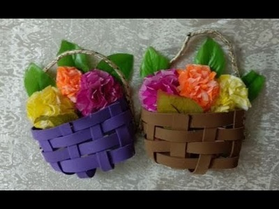 DIY Home Decor - Recycling Ideas - Easter Crafts - Making a Basket + Tutorial !