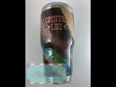 DIY: How to apply a glitter swirl to a tumbler