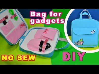 DIY.How to make organizer.IDEA NO SEW.For tablet and cell phone.Tutorial&crafts.Handmade.My creative