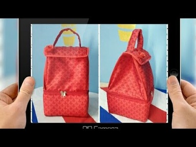 DIY: How To Sew Designer Double Decker Lunch Bag By Anamika Mishra. .