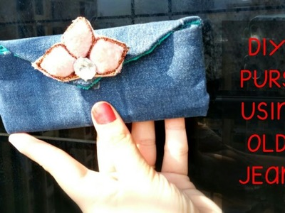 DIY Jeans Purse Bag Using Old Jeans - No sew - Recycling Idea
