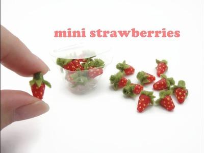 DIY Miniatures Doll Mini - Strawberries - No clay!