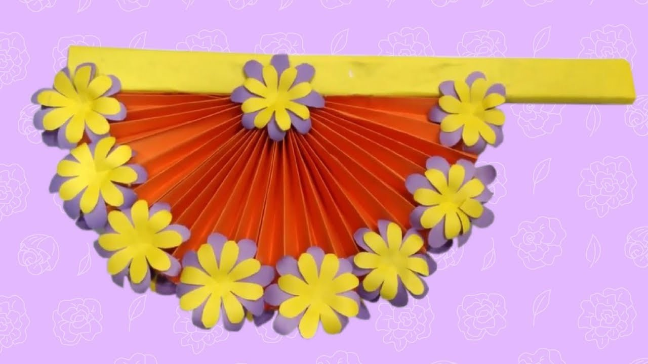 Diy Paper Craft Ideas How To Make Diy Hand Fan With Color Paper