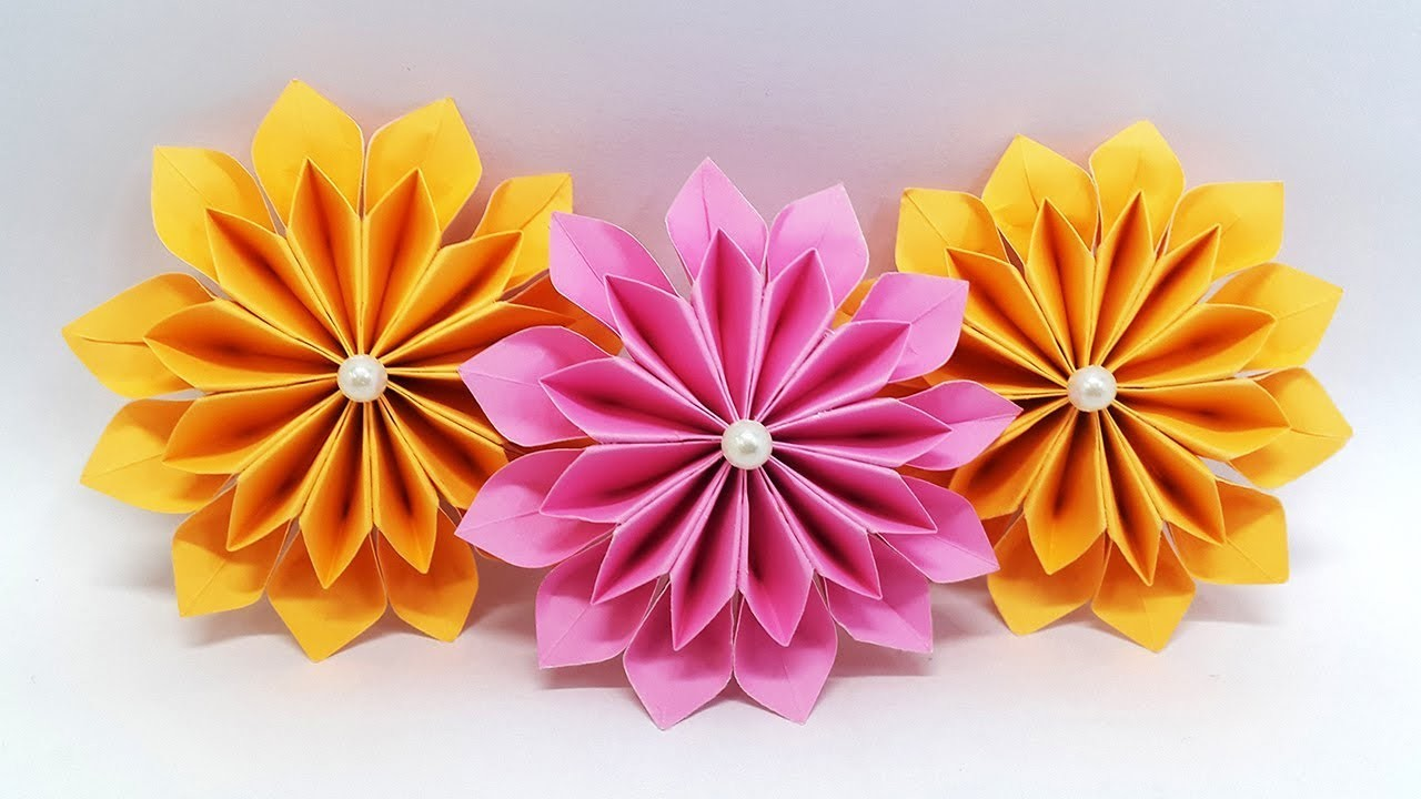 Diy Paper Flowers Easy Making Tutorial Origami Flower Paper