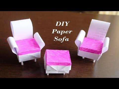 DIY - Paper Sofa | How To Make Easy Paper Sofa | DIY paper Craft