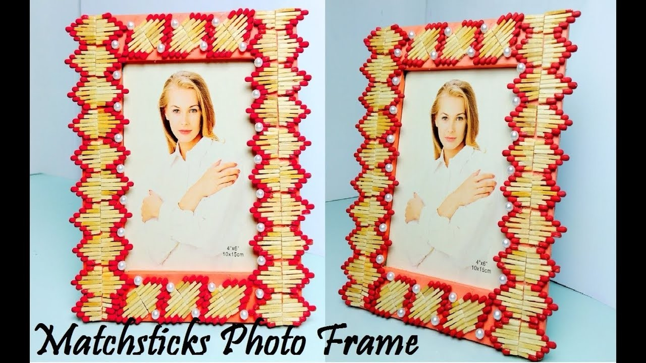 DIY | Photo frame | Matchsticks Craft |